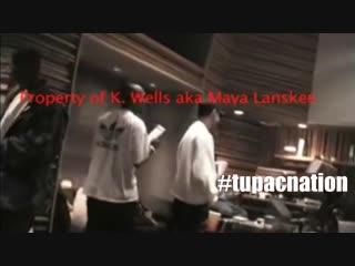 Tupac when mexicans cry (редкое видео со студии)