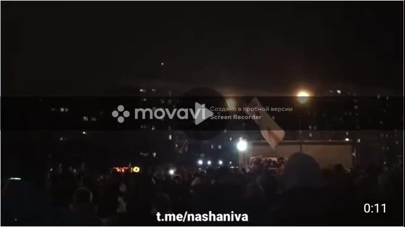 Чтоб ты сдох Минчане проклинают фашиста Лукашенко на площади Перемен