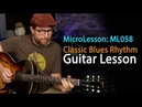 Learn a blues rhythm on guitar that can be played in any key. Easy blues guitar lesson - ML058