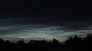 Серебристые облака в вечернем небе. Вязники