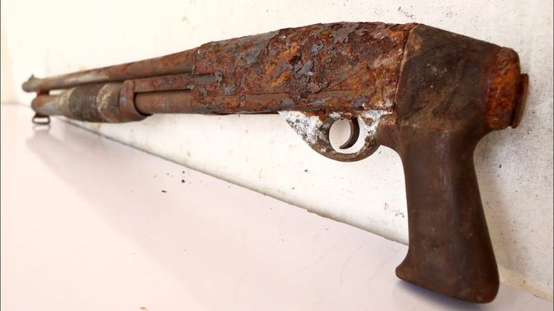 Rusty Jammed Shotgun Restoration