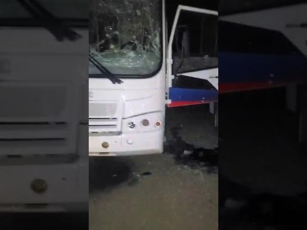 Обстрел центра Горловки Минус шесть автобусов