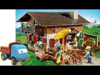 Игрушки для Детей. Собираем Конструктор. Ферма Playmobil