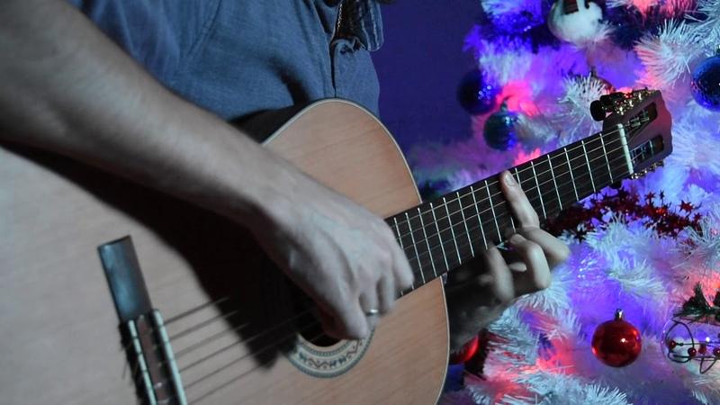 Кабы не было зимы тема из м ф Зима в Простоквашино на гитаре