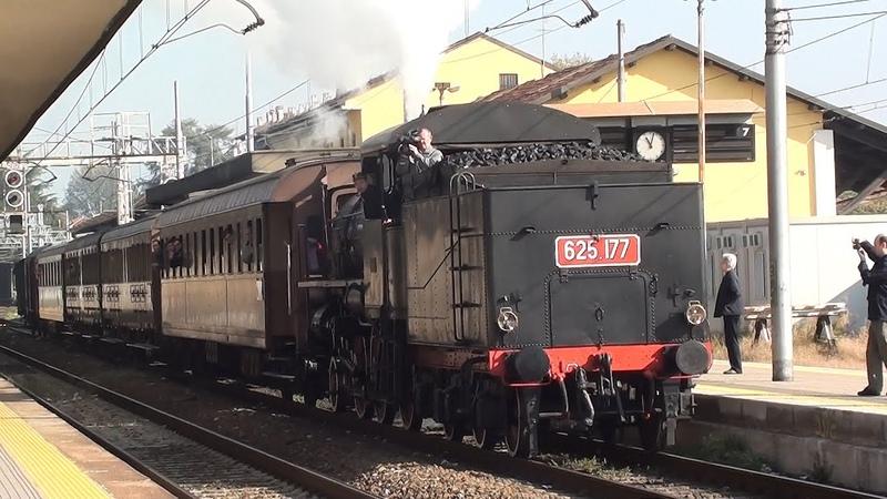 2011 Исторический паровоз 100 лет линии Монца Мольтено Охоно