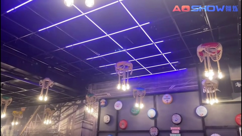 Aoshowled@ Club Lighting on Zhejiang浙江清吧项目 WS2811 Pixel RGB Rigid LED Bar Madrix 5 software Artnet