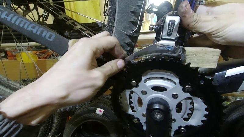 Замена шатунов и настройка переднего переключателя. Prowheel CM02
