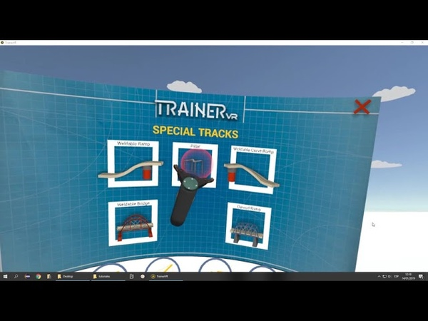 Trainer VR Tutoral 1 Weldable pieces