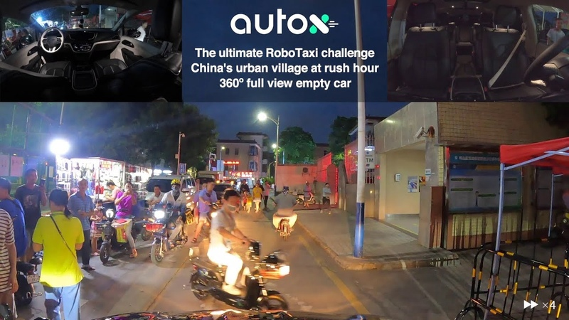 AutoX Fully Driverless RoboTaxi in China's Urban Villages