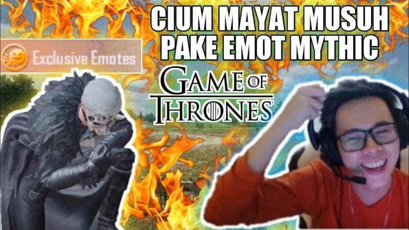 CIUM MAYAT PAKE EMOT MYTHIC GAME OF THRONES ?! KEREN BANGET - PUBG MOBILE INDONESIA