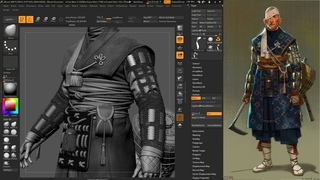 Shinobi | Game Character | Part 3 | Attachments | ZBrush 3Dmax