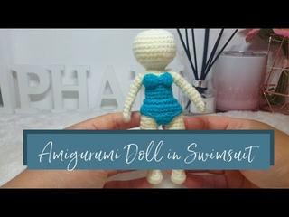 Amigurumi Summer Doll in Swimsuit
