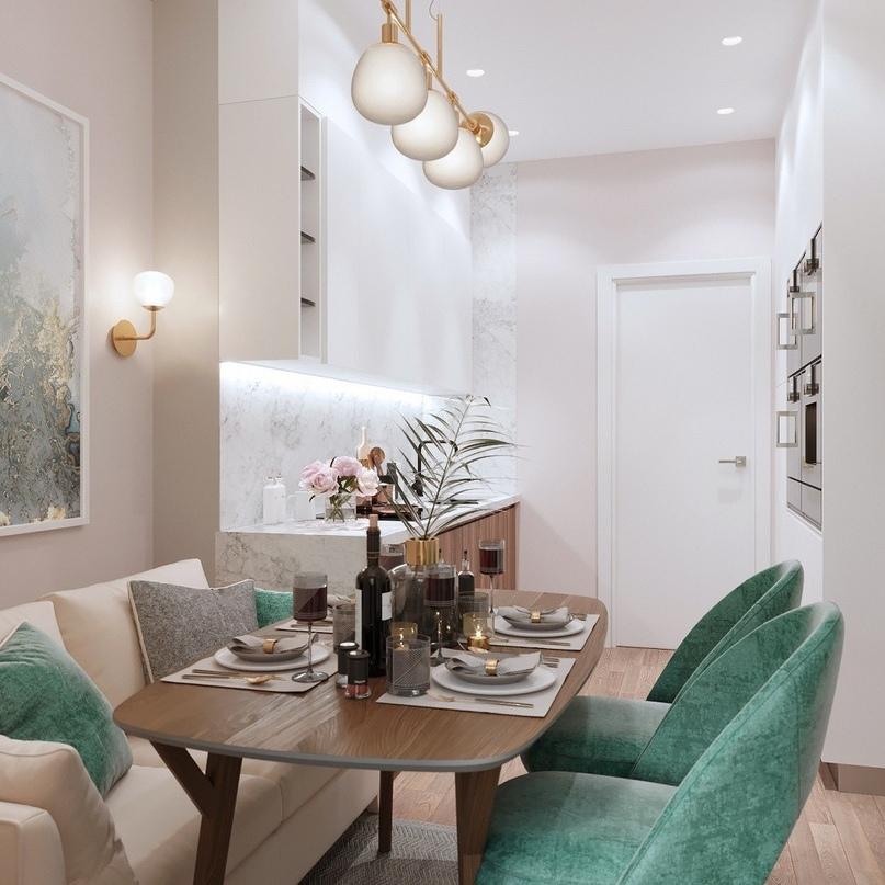 7 проектов от профи, как оформить дизайн кухни-гостиной площадью 12 м2, изображение №5