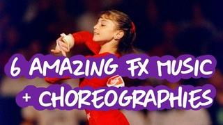Gymnastics - 6 Amazing Floor Choreographies & Music