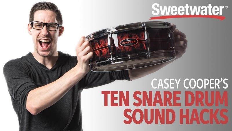 Casey Cooper's 10 Snare Drum Sound Hacks 🥁 Drum Lesson