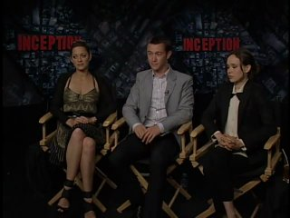 Interview with Ellen Page, Marion Cotillard and Joseph Gordon Levitt for Inception