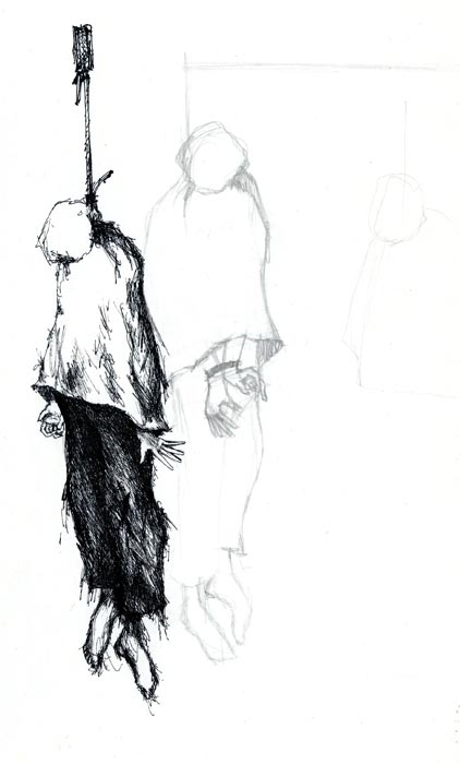 Картинка висельника карандашом