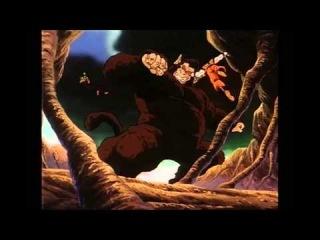 Gohan turns into an Oozaru and attacks Goku (Ocean Dub uncut)