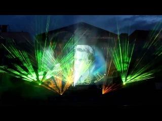 3D-лазерное шоу, посвященное 120-летию Новосибирска на Площади Ленина