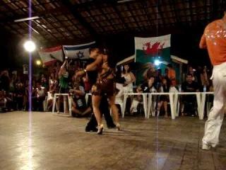 Berg Congress - 2009. 1 Dana na final do Campeonato mundial de Zouk-Lambada na Cidade de Porto Seguro/BA. Marcos Pessoa e Ana Claudia Maldonado.