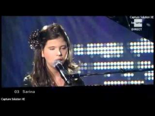Sarina en Finale de la sélection Belge à l'eurovision- Rien En Apparence