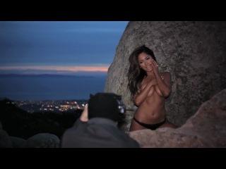 Playboy Playmate, Jessica Burciaga Behind the scenes shoot w/ Charlie Langella