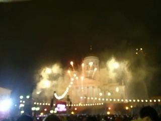 новый год в хельсенки .салют на сенатской площади