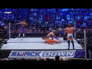 [WM] WWE Friday Night SmackDown  - Carlito & Primo vs. Curt Hawkins & Zack Ryder (WWE Tag Team Title Match)