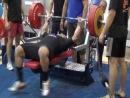 Бобров Виталий, жим лёжа 260 килограммов