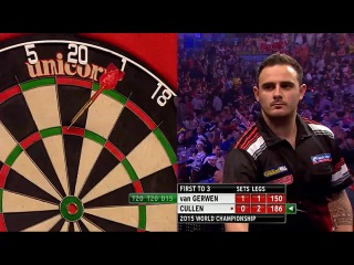 Michael van Gerwen vs Joe Cullen (PDC World Darts Championship 2015 / Round 1)