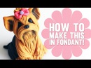 Learn how to make a cute Yorkshire Terrier Cake Topper - Cake Decorating Tutorial