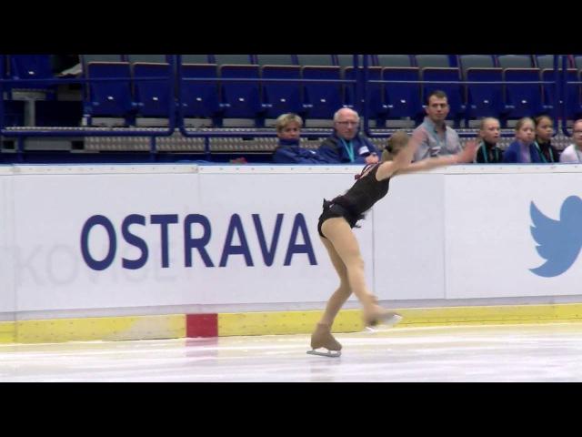 2016 ISU Junior Grand Prix Ostrava Ladies Free Skate Alisa LOZKO RUS
