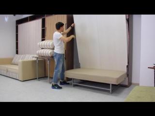 Мебель-трансформер. Подъемная кровать-диван Летто Пуф.