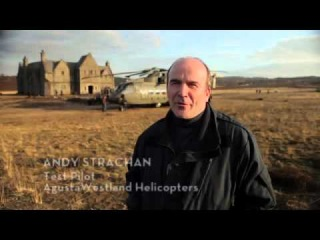Augustawestland AW101 Helicopter - backstage in 007 Skyfall