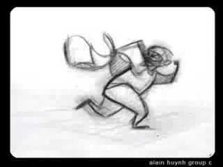 granny and burgler animation walk and run