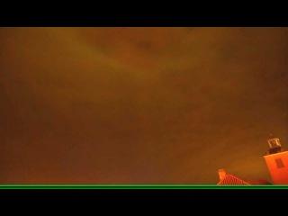 What happens to the sky this night. Strange phenomenon. Strange luminous square.