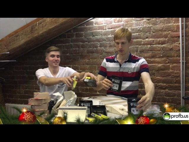 ProFB BlackRiver Ramps анбокс новогоднего стока 2018 с Ником Уваровым и Севой Галицким
