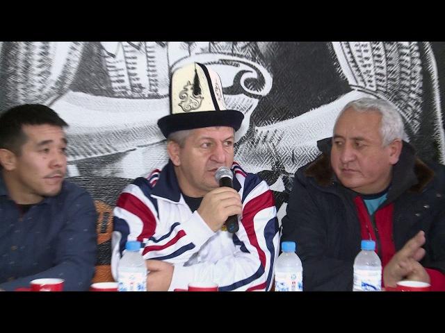 Отец Хабиба Абдулманап Магомедович Нурмагомедов в Оше провел мастер класс спортсменам и тренерам