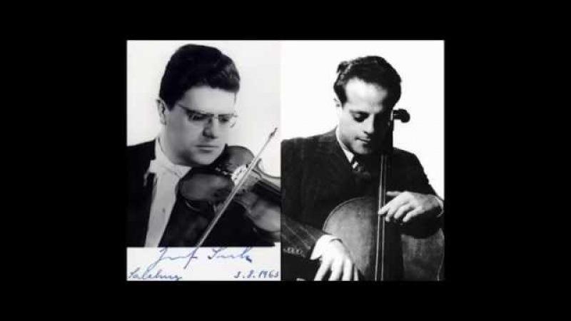 Josef Suk André Navarra Brahms Double Concerto Op 102 Karel Ančerl