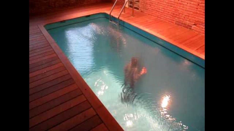 Leandro Erlich's Swimming Pool exhibit at PS1