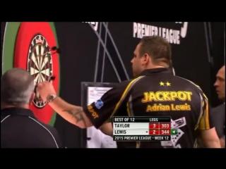 Phil Taylor v Adrian Lewis (2015 Premier League Darts / Week 12)
