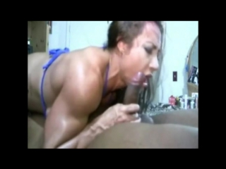 Muscle chick pumps her bbc iron (comp)