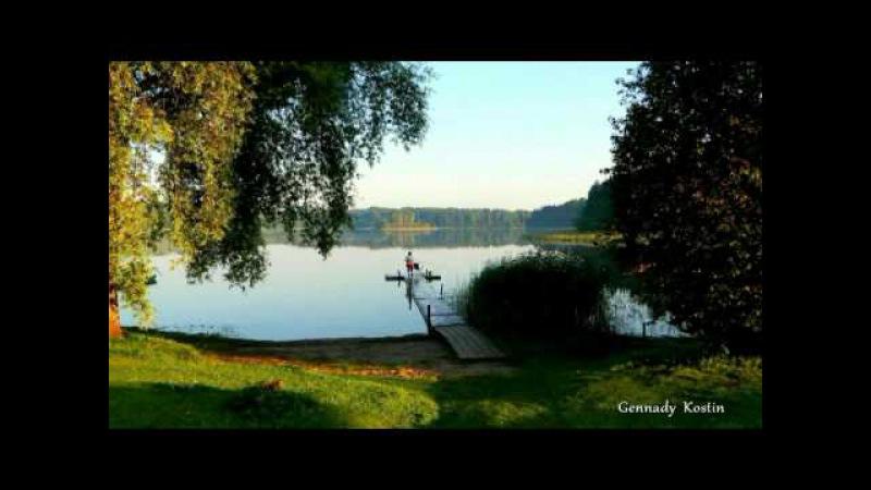 Утро на озере. Morning on the Lake. Rītā uz ezera.