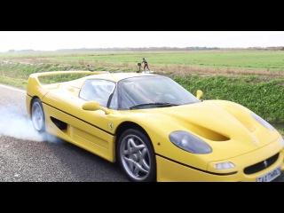 Dragged behind a Ferrari F50 ! Wakeboarding