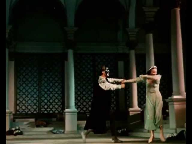Ромео и Джульетта. Цветной фильм. Но сильно затемнён. Балет тех лет.
