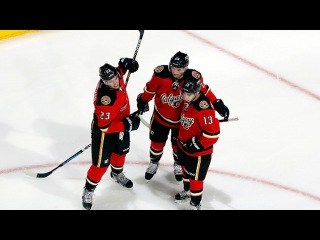 Monahan and Hudler connect on pretty give-and-go