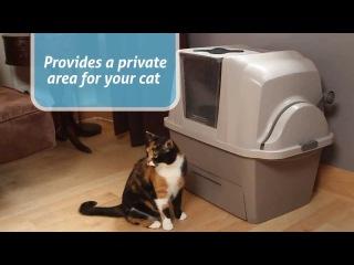 Автоматический закрытый туалет для кошек Smart Sift