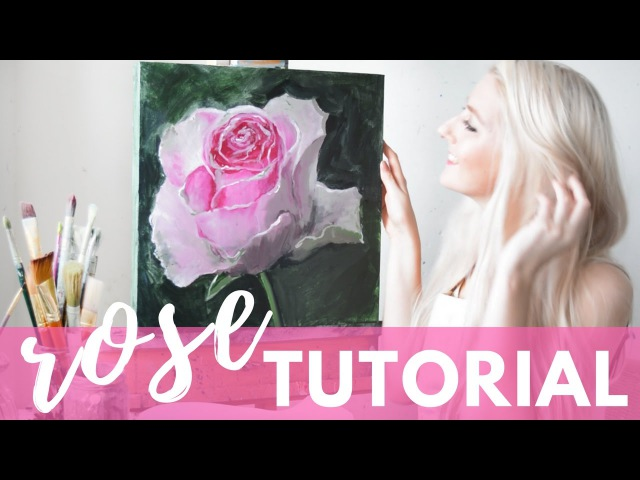 PAINTING TUTORIAL Acrylic Rose Techniques Katie Jobling Art