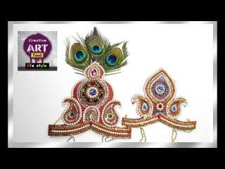 DIY How to make Mukut   God ( crown  / tahia in odia )   kundan mukut   Art with Creativity