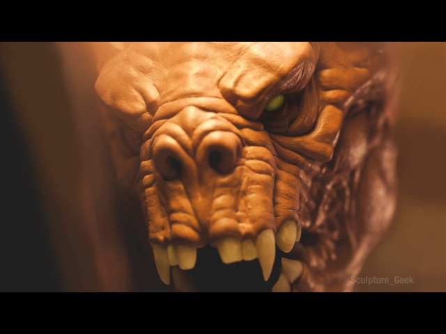 Chris Vierra Sculpting a Deathclaw from Fallout 4 Traditionally